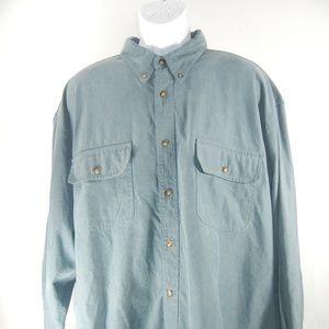 Orvis Men Heavy Shirt Light Jacket Size XXL